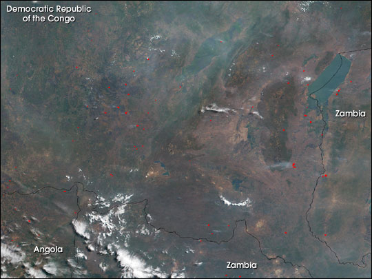 Fires and Smoke in Central Africa
