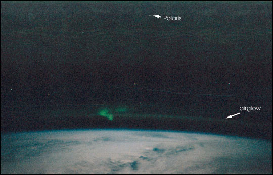 Aurora from the Space Shuttle