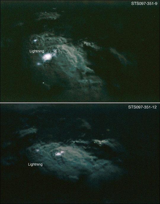 Lightning over Equatorial Africa