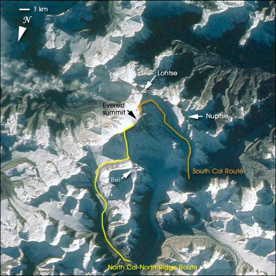 NASA Visible Earth: Mount Everest (Chomolungma, Goddess Mother of ...