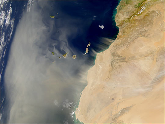 Dust and the Canary Islands