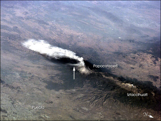 Popocatepetl from the Space Station - related image preview