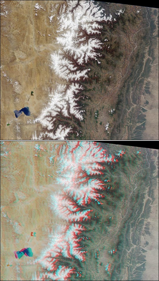 3D View of the Himalaya