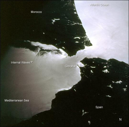 Internal Waves, Strait of Gibraltar