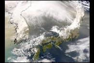 Dust from China over Japan
