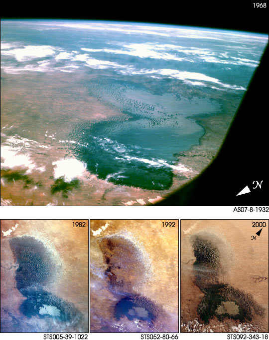 Lake Chad as seen from Apollo-7 in 1968 - related image preview