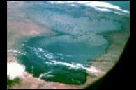 Lake Chad as seen from Apollo-7 in 1968