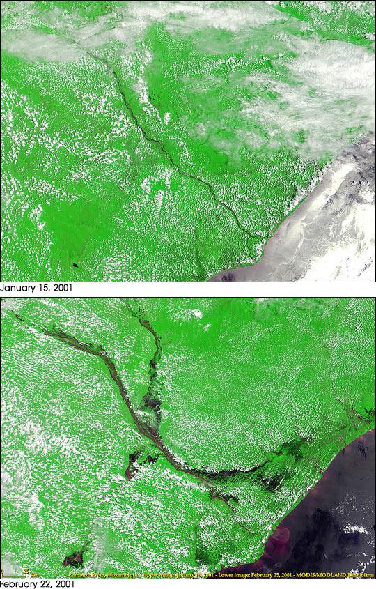 Flooded Zambeze River
