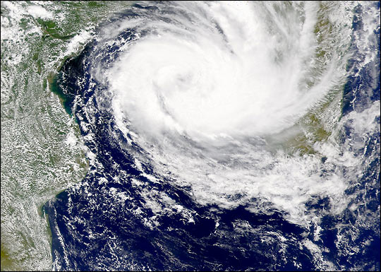 Cyclone Dera in the Mozambique Channel