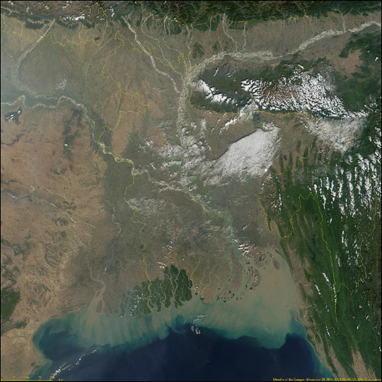 Ganges River Delta : Image of the Day