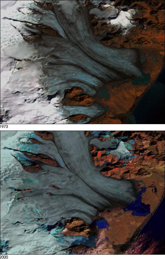Receding Glacier in Iceland