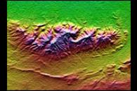 Topography: Haro and Kas Hills, India
