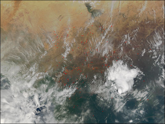 Fires across the Sahel