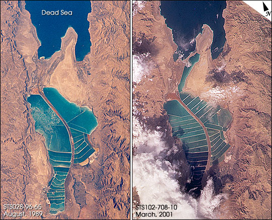 Salt Evaporation Ponds, Dead Sea