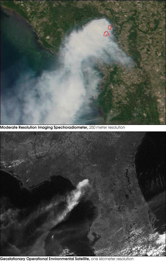 Steinhatchee Fire, Florida