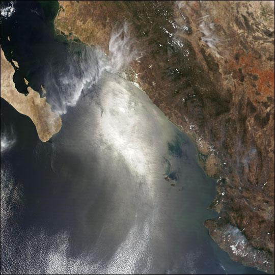 Fires in Sinaloa, Mexico