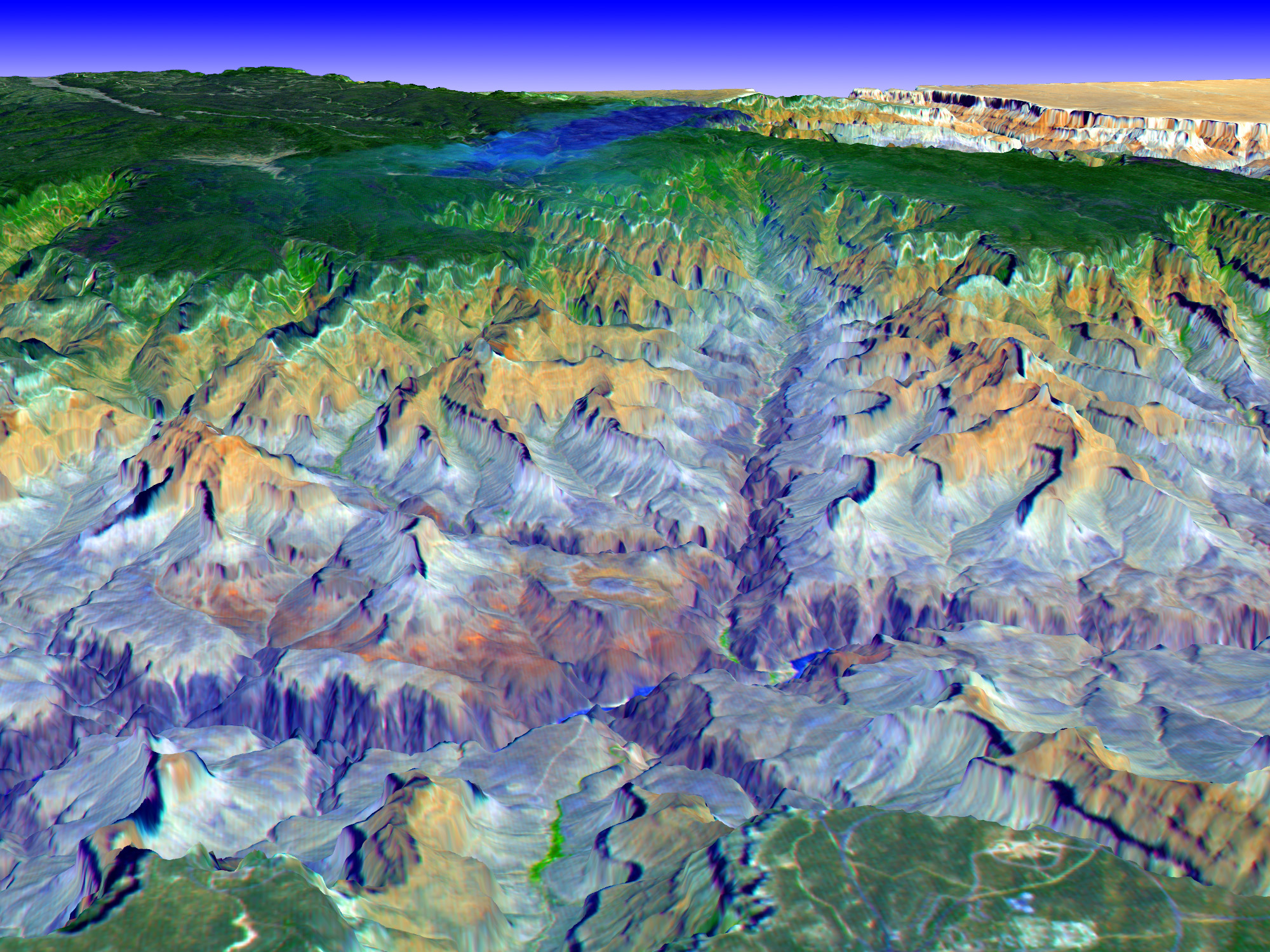 3d Map Of Arizona.3 D View Of Grand Canyon