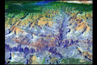 3-D View of Grand Canyon