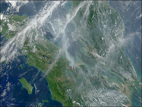Haze over Malaysia