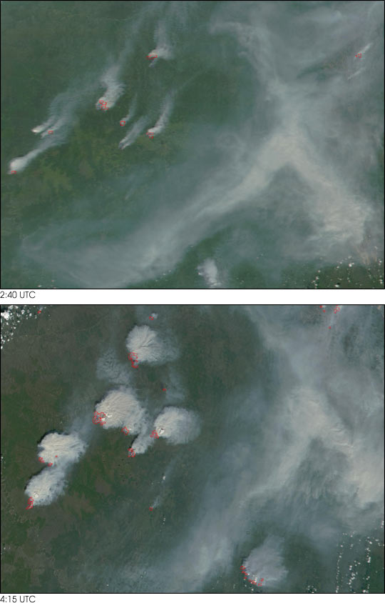 Large Outbreak of Fires near Yakutsk, Russia