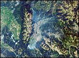 Smoke Over Jackson Hole, Wyoming