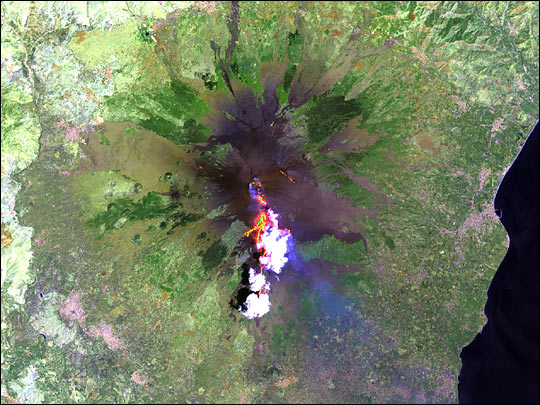 Lava Flows on Mt. Etna