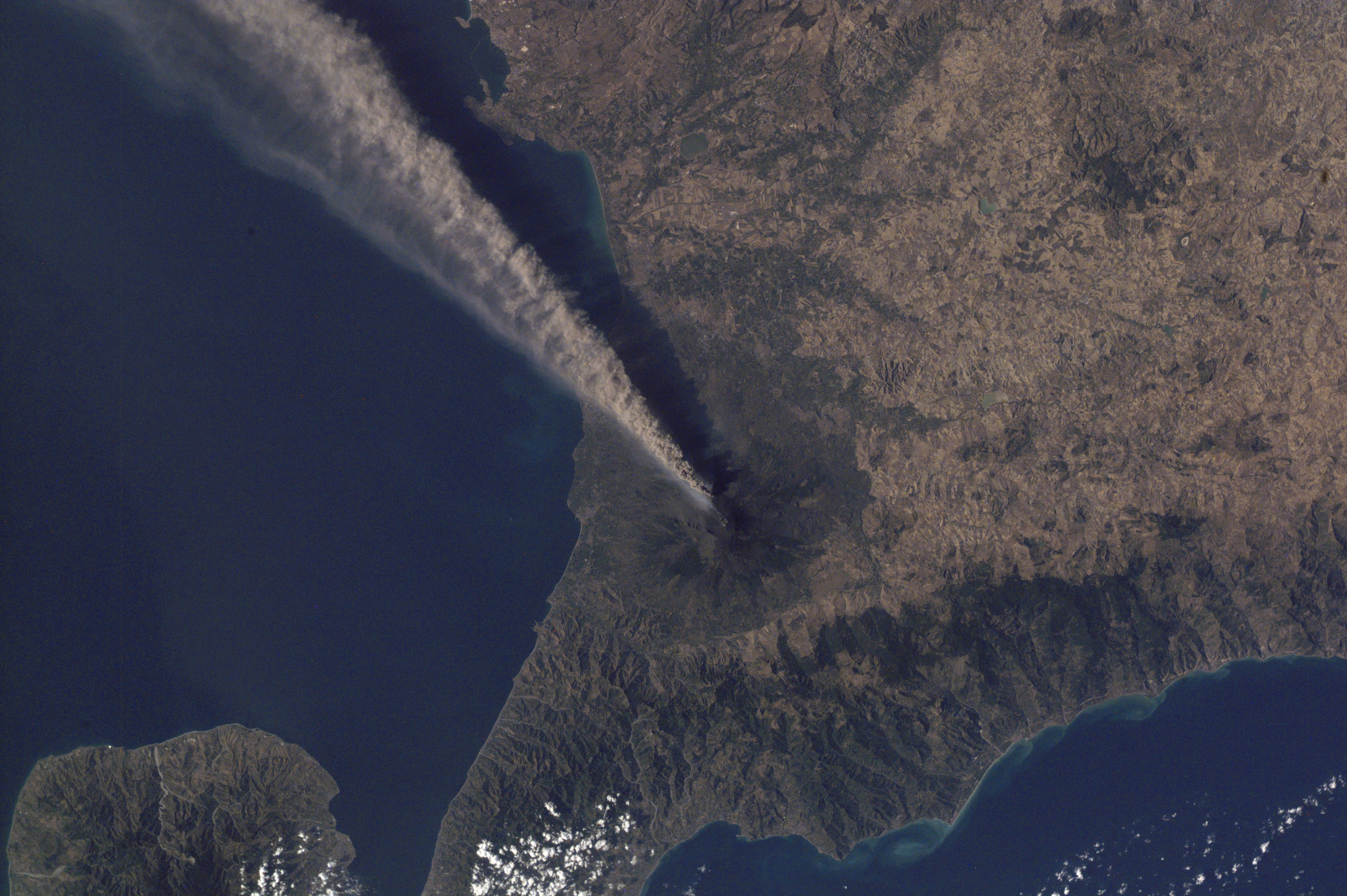 Ash Plume Streams from Mt. Etna, Sicily - related image preview
