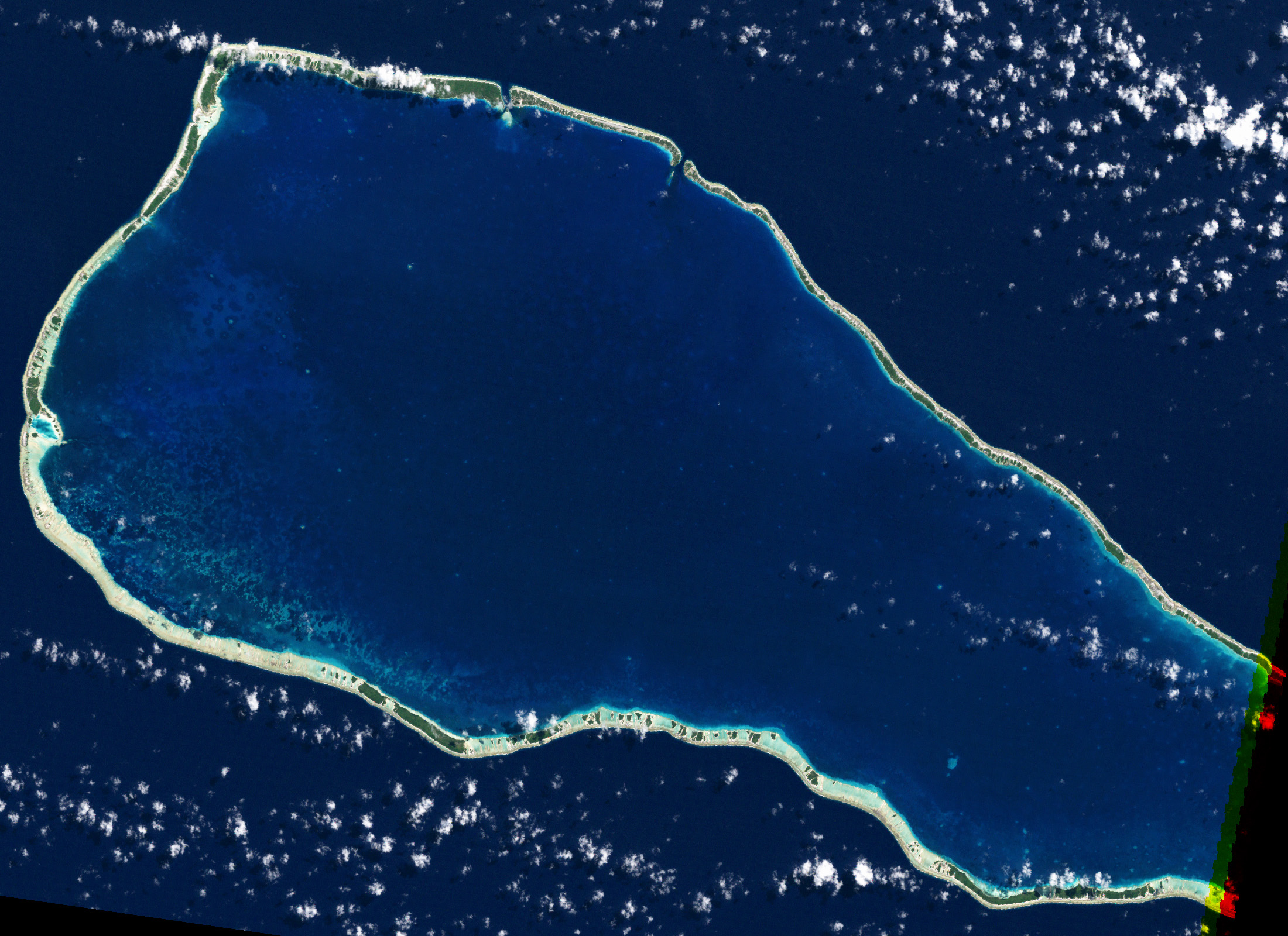 Rangiroa French Polynesia  city pictures gallery : NASA Visible Earth: Coral Bleaching in French Polynesia