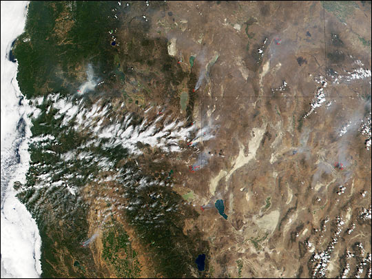 Fires in California, Nevada, and Oregon