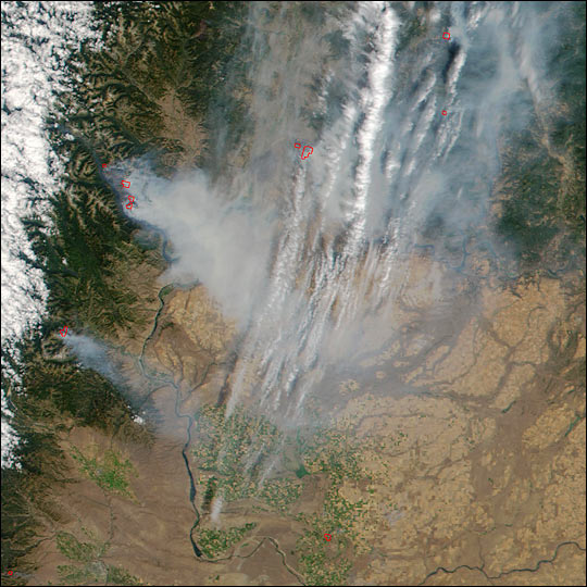 Widespread Fires in the Pacific Northwest