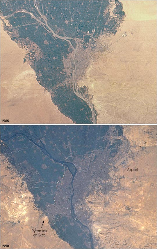 Urban Growth in Cairo 1965-98 - related image preview