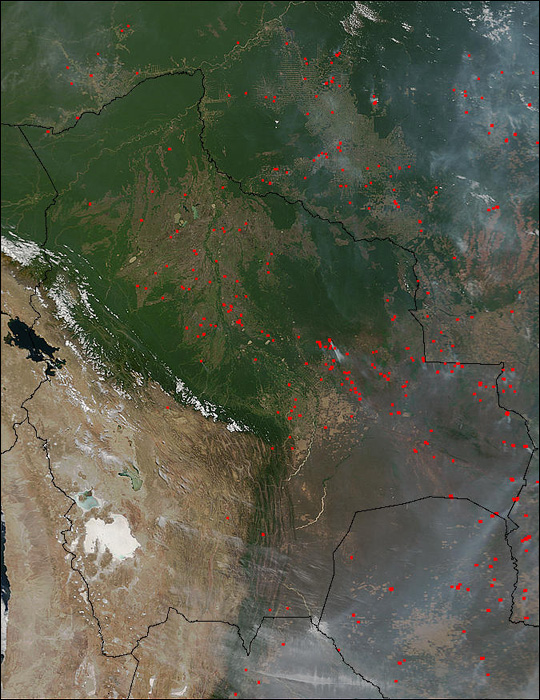 Widespread Burning in South America