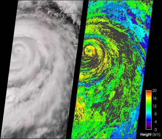 Cloud Height: Hurricane Juliette