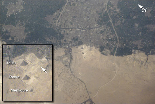 Space Station view of the Pyramids at Giza - related image preview