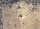 Space Station view of the Pyramids at Giza - selected image