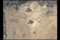 Space Station view of the Pyramids at Giza