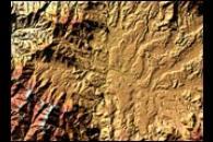 Elevation Map of Kathmandu, Nepal