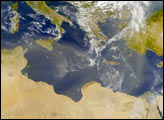 Dust Blankets the Mediterranean