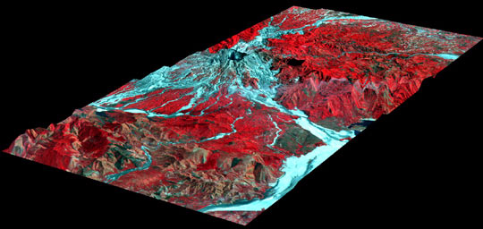 3-D Perspective View of Mt. Pinatubo, Philippines