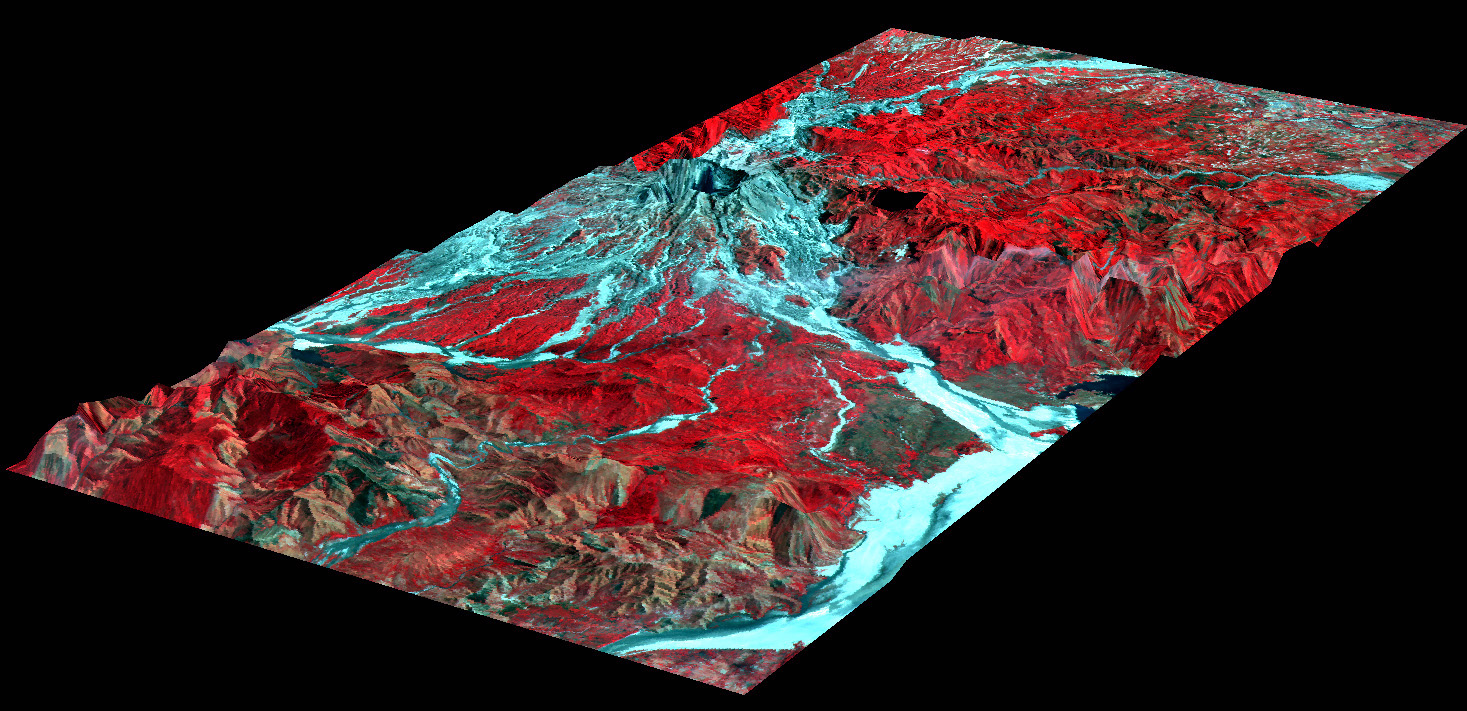 3-D Perspective View of Mt. Pinatubo, Philippines - related image preview