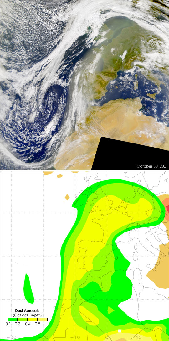 Predicted Dust Movement Matches Satellite Images