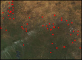 Fires in Mali and Senegal