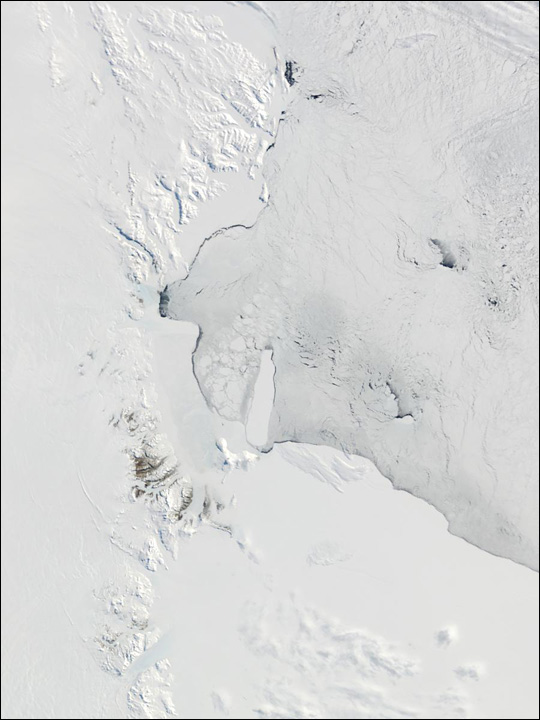 Victoria Land and Ross Ice Shelf, Antarctica