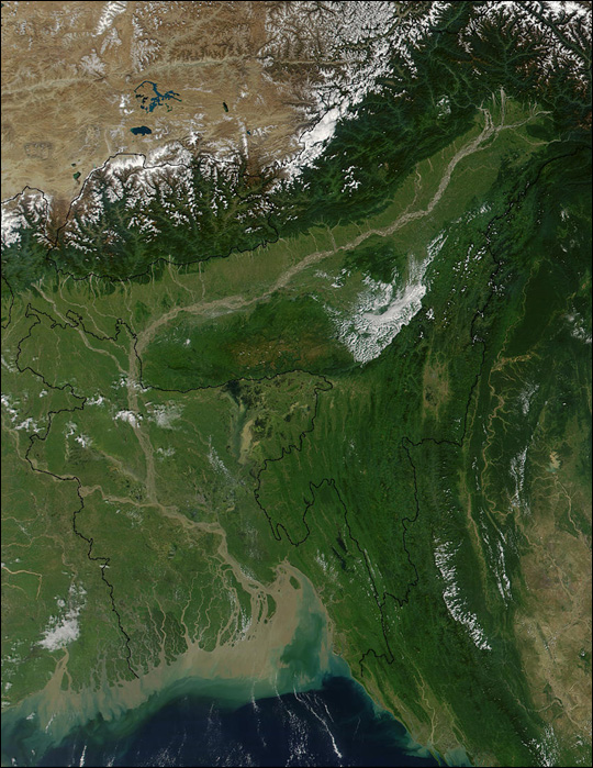 Valley of the Brahmaputra, India
