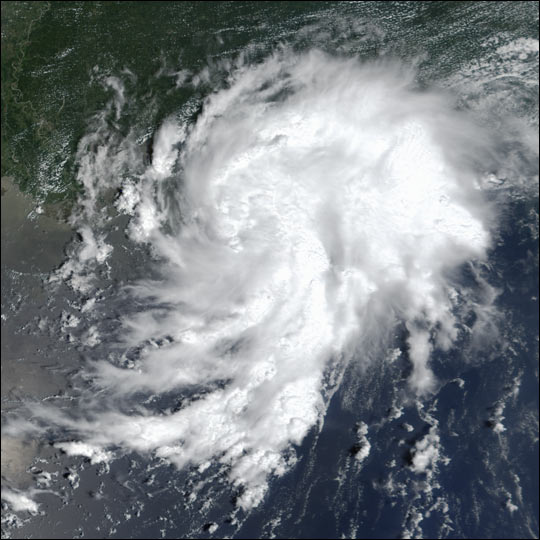 Tropical Storm Bertha in the Gulf of Mexico
