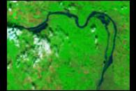 Flooding along Danube River