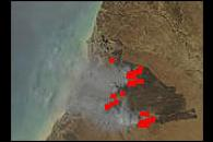 Fires on Cape York Peninsula, Australia