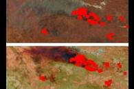 Large Bushfires in Central Australia