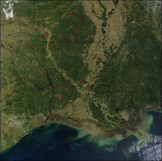 Fires Across South Central U.S.