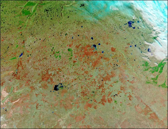 Burn Scars and Late-Season Fires in Kazakhstan